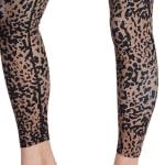 Sage Everyday Printed Suede Spotted Cheetah Legging - 5