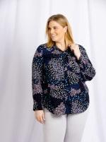 Cooper & Ella Front Button Long Sleeve Harlow Shirt - Plus - 2