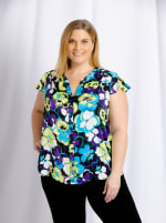 Cooper & Ella - Louisa Flutter Sleeve Front Button Shirt - Plus - 2