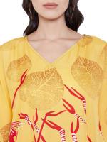 Loose Polyester Kimono Kaftan Dress - Plus - 42