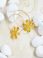 14K Gold Filled Flower Hoops - 6