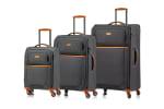 CHAMPS 3-Piece Classic II Ultra Lightweight Soft Side Luggage Set - 1