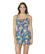 Nautica Lace Up Swimdress - Deep Sea - Front