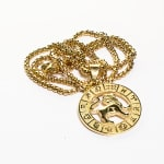 Dell Arte by Jean Claude Lion Zodiac Sign Pendants Necklace - Gold - Back