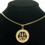 Dell Arte by Jean Claude Gemini Zodiac Sign Pendants Necklace - 1