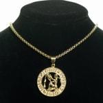 Dell Arte by Jean Claude Aquarius Zodiac Sign Pendants Necklace - Gold - Front