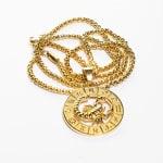 Dell Arte by Jean Claude Scorpio Zodiac Sign Pendants Necklace - Gold - Back