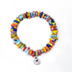 Dell Arte By Jean Claude Krobo Colorful Paradise Recycled Glass Bead Bracelet - 3