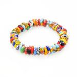 Dell Arte By Jean Claude Krobo Colorful Paradise Recycled Glass Bead Bracelet - Multicolor - Back