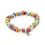 Dell Arte By Jean Claude Krobo Colorful Paradise Recycled Glass Bead Bracelet - 4