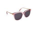 Dione Wide Fit Winged Sunglasses - Transparent Pink / Dark Grey - Back
