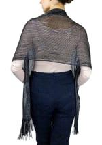 Metallic Dressy Shawl With Fringe - 5