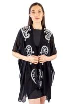 Paisley Border Kimono - 1