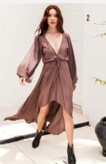Linda V-Neck Dress - Plus - 1