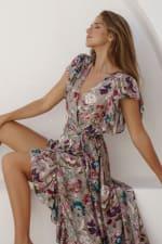 Carmen Wrap Maxi Dress - 4