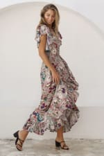 Carmen Wrap Maxi Dress - 3