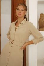 Jess Long Sleeves Button up Shirt Dress - Plus - 5