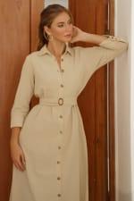 Jess Long Sleeves Button up Shirt Dress - 6