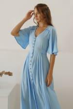 Lola Button Up Midi Dress - 5