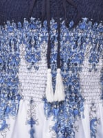 Blue Strapless Beach Cover Up Tube Dress - 3