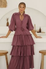 Wild West Ruffle Midi Dress - 10