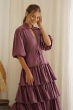 Wild West Ruffle Midi Dress - 11