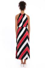 Hallie Blouson Halter Front Slit Maxi Dress - 2