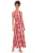 Parker Floral Stripe Halter Maxi Dress - Petite - 3