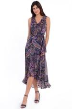 Mariah Paisley Print Ruffle Maxi Dress - 3