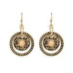 Museum Collection Gold Bali Round Drop with Opal Stone - Gold - Back