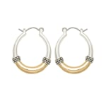 Museum Collection Two-Tone Hoop - 1
