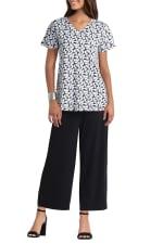 Isaac Mizrahi Short Sleeve V-Neck Pullover T-Shirt - 14