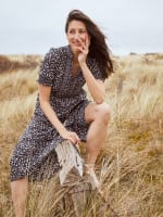 Dana Smocked Puff Sleeve Ruffle Neck Tiered Midi Dress - 5