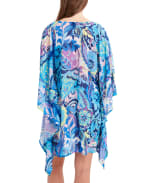 Tahari Paris Floral Wrap Cover - Blue - Back
