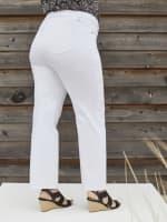 Westport Signature Plus 5 Pocket Straight Leg Jean - Plus - Optic White - Back
