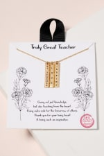 Inspirational Bar Charms Short Necklace - 1