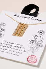 Inspirational Bar Charms Short Necklace - 2