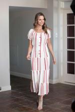 Vienna Stripe Maxi Peasant Dress - 4