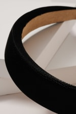 Crock Embossed Leather Head Band - Black - Back