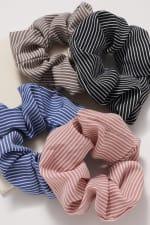 Striped Hair Scrunchies - 3