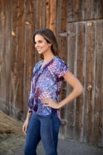 """Patchwork """"To Tie Or Not To Tie"""" Shirt - Misses - 5"""