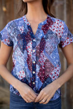 """Patchwork """"To Tie Or Not To Tie"""" Shirt - Misses - 3"""
