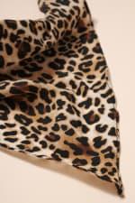 Animal Print Bandana Hair Scarf - Gold - Back