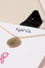 Aids Logo Disc Necklace - Gold - Back