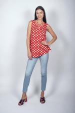 Dot Asymmetrical Knit Tunic - 3
