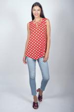 Dot Asymmetrical Knit Tunic - Misses - 3