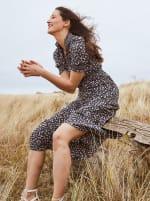 Dana Smocked Puff Sleeve Ruffle Neck Tiered Midi Dress - 4