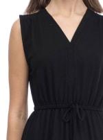V-Neck Ultra Soft French Terry Dress - 3