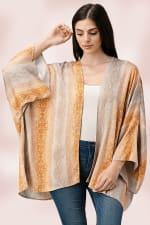 Oversized Kimono in Snakeskin Printed - 5
