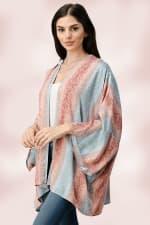 Oversized Kimono in Snakeskin Printed - 4